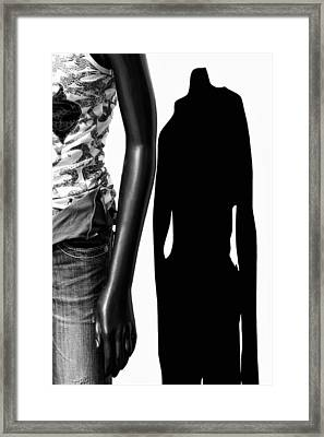No Sense Of Style - Mannequin Framed Print by Nikolyn McDonald