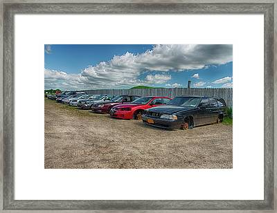No Shoes Framed Print by Guy Whiteley