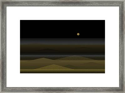 No Swimming After Dark Framed Print by Val Arie