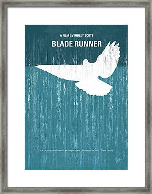 No011 My Blade Runner Minimal Movie Poster Framed Print by Chungkong Art