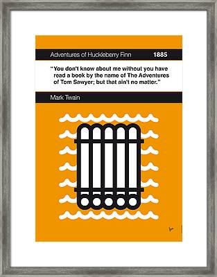 No012-my-huckleberry Finn-book-icon-poster Framed Print by Chungkong Art
