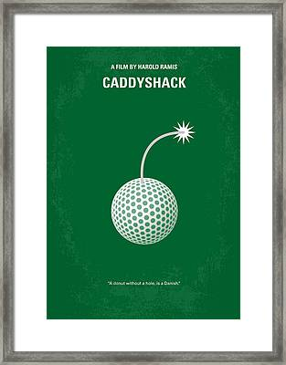 No013 My Caddy Shack Minimal Movie Poster Framed Print by Chungkong Art