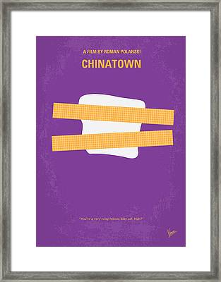 No015 My Chinatown Minimal Movie Poster Framed Print by Chungkong Art