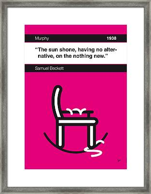 No015-my-murphy-book-icon-poster Framed Print by Chungkong Art