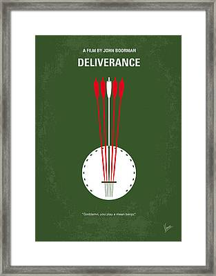 No020 My Deliverance Minimal Movie Poster Framed Print by Chungkong Art