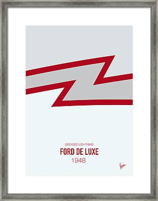 No022 My Grease Minimal Movie Car Poster Framed Print by Chungkong Art