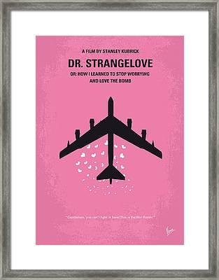 No025 My Dr Strangelove Minimal Movie Poster Framed Print by Chungkong Art