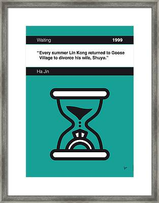 No029-my-waiting-book-icon-poster Framed Print by Chungkong Art
