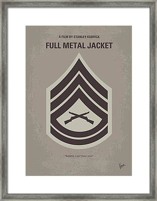 No030 My Full Metal Jacket Minimal Movie Poster Framed Print by Chungkong Art