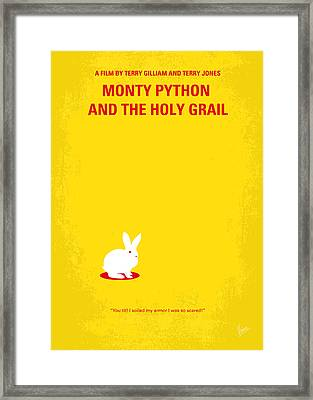 No036 My Monty Python And The Holy Grail Minimal Movie Poster Framed Print by Chungkong Art