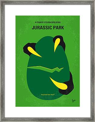 No047 My Jurassic Park Minimal Movie Poster Framed Print by Chungkong Art