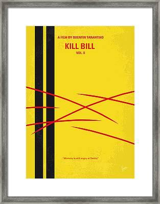 No049 My Kill Bill-part2 Minimal Movie Poster Framed Print by Chungkong Art