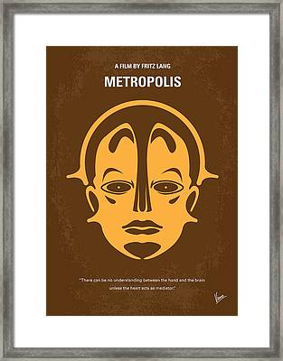No052 My Metropolis Minimal Movie Poster Framed Print by Chungkong Art