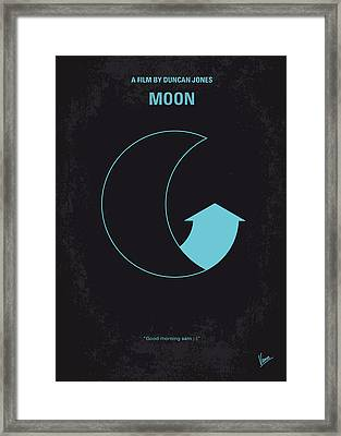 No053 My Moon 2009 Minimal Movie Poster Framed Print by Chungkong Art