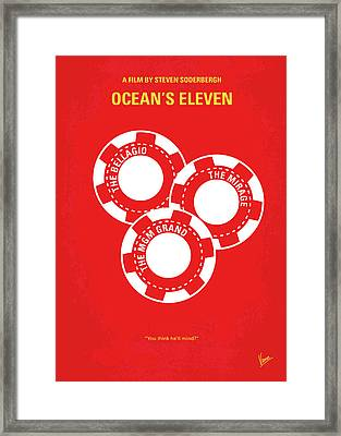 No056 My Oceans 11 Minimal Movie Poster Framed Print by Chungkong Art