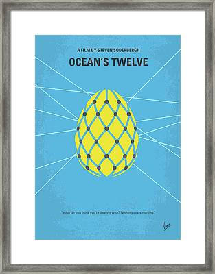 No057 My Oceans 12 Minimal Movie Poster Framed Print by Chungkong Art