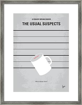No095 My The Usual Suspects Minimal Movie Poster Framed Print by Chungkong Art