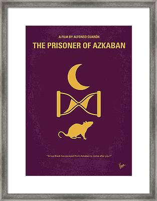 No101-3 My Hp - Prisoner Of Azkaban Minimal Movie Poster Framed Print by Chungkong Art