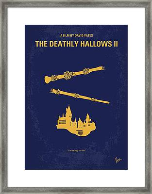 No101-8 My Hp - Deathly Hallows II Minimal Movie Poster Framed Print by Chungkong Art