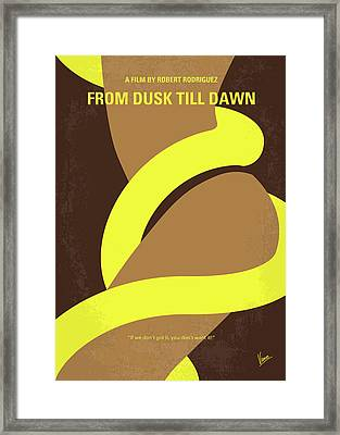 No127 My From Dusk This Dawn Minimal Movie Poster Framed Print by Chungkong Art
