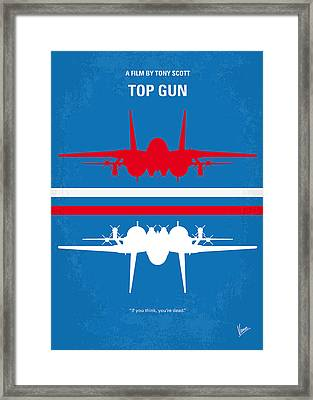 No128 My Top Gun Minimal Movie Poster Framed Print by Chungkong Art