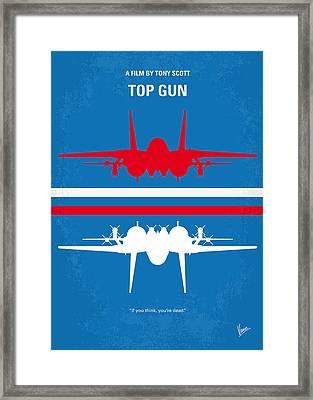 No128 My Top Gun Minimal Movie Poster Framed Print by Chungkong Art