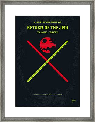 No156 My Star Wars Episode Vi Return Of The Jedi Minimal Movie Poster Framed Print by Chungkong Art