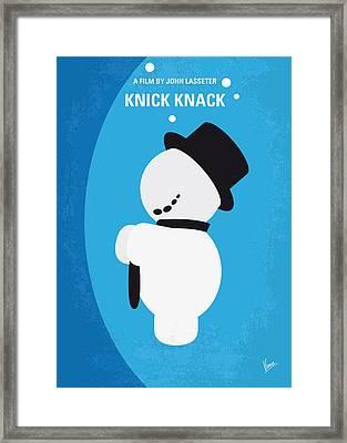 No172 My Knick Knack Minimal Movie Poster Framed Print by Chungkong Art