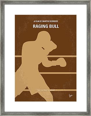 No174 My Raging Bull Minimal Movie Poster Framed Print by Chungkong Art