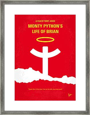 No182 My Monty Python Life Of Brian Minimal Movie Poster Framed Print by Chungkong Art