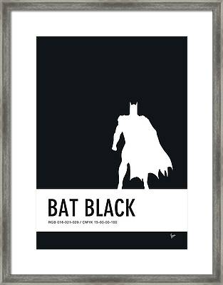 No20 My Minimal Color Code Poster Batman Framed Print by Chungkong Art