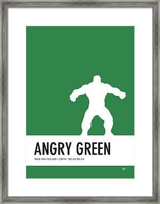 No22 My Minimal Color Code Poster Hulk Framed Print by Chungkong Art