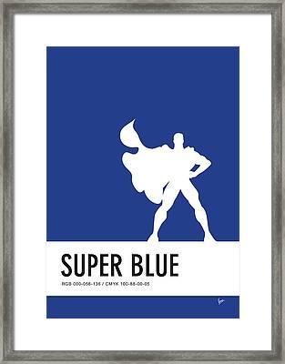 No23 My Minimal Color Code Poster Superman Framed Print by Chungkong Art