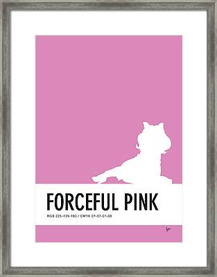 No26 My Minimal Color Code Poster Piggy  Framed Print by Chungkong Art