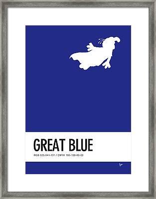 No27 My Minimal Color Code Poster Gonzo  Framed Print by Chungkong Art