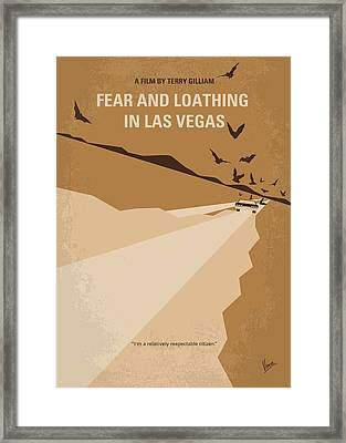 No293 My Fear And Loathing Las Vegas Minimal Movie Poster Framed Print by Chungkong Art
