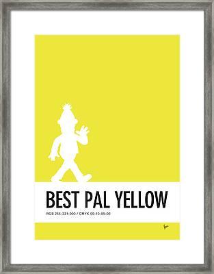 No31 My Minimal Color Code Poster Bert Framed Print by Chungkong Art