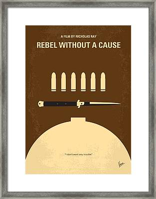 No318 My Rebel Without A Cause Minimal Movie Poster Framed Print by Chungkong Art