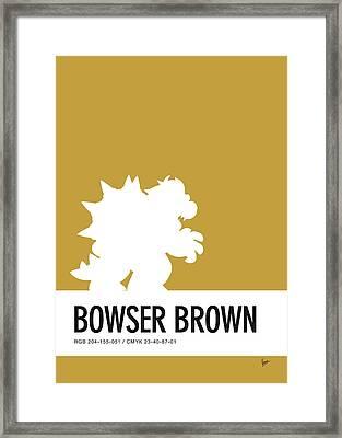No38 My Minimal Color Code Poster Bowser Framed Print by Chungkong Art