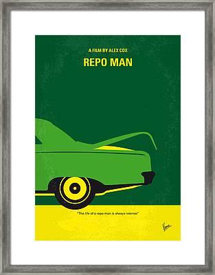 No478 My Repo Man Minimal Movie Poster Framed Print by Chungkong Art