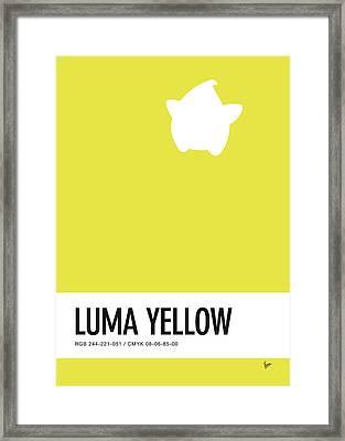 No40 My Minimal Color Code Poster Luma Framed Print by Chungkong Art