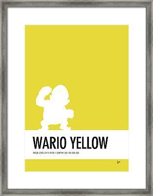No43 My Minimal Color Code Poster Wario Framed Print by Chungkong Art