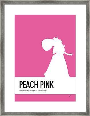 No44 My Minimal Color Code Poster Peach Framed Print by Chungkong Art