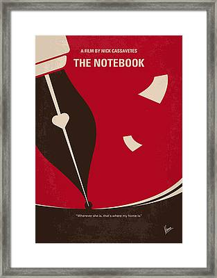 No440 My The Notebook Minimal Movie Poster Framed Print by Chungkong Art