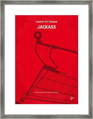 No444 My Jackass Minimal Movie Poster Framed Print by Chungkong Art