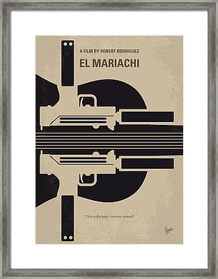No445 My El Mariachi Minimal Movie Poster Framed Print by Chungkong Art