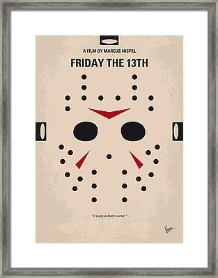 No449 My Friday The 13th Minimal Movie Poster Framed Print by Chungkong Art
