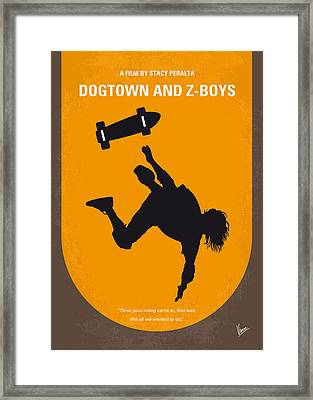 No450 My Dogtown And Z-boys Minimal Movie Poster Framed Print by Chungkong Art