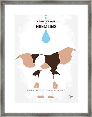 No451 My Gremlins Minimal Movie Poster Framed Print by Chungkong Art