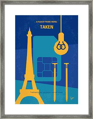 No469 My Taken Minimal Movie Poster Framed Print by Chungkong Art